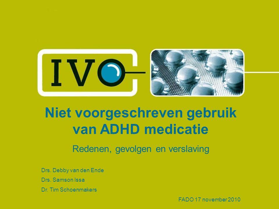 Niet voorgeschreven gebruik van ADHD medicatie Redenen, gevolgen en verslaving Drs.
