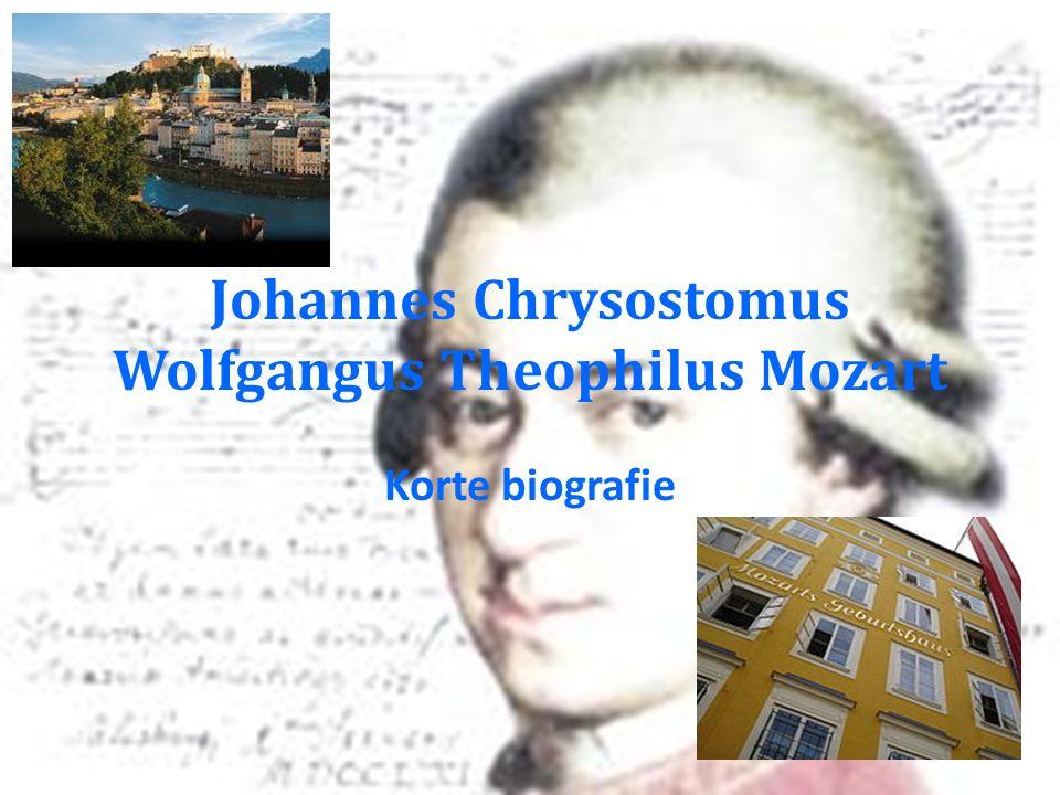 Johannes Chrysostomus Wolfgangus Theophilus Mozart Korte biografie