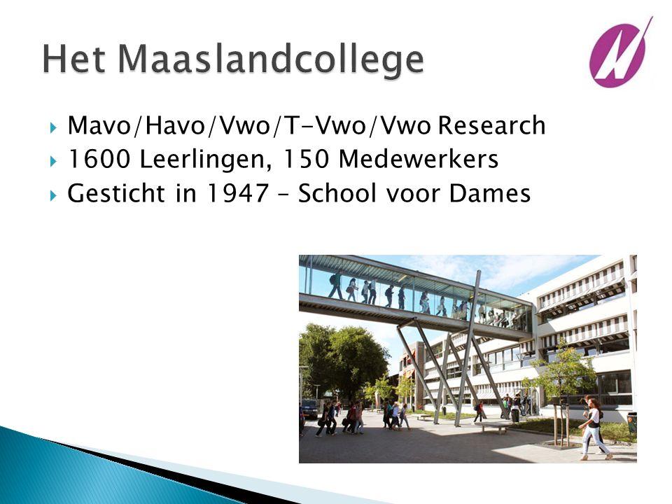  Mavo/Havo/Vwo/T-Vwo/Vwo Research  1600 Leerlingen, 150 Medewerkers  Gesticht in 1947 – School voor Dames