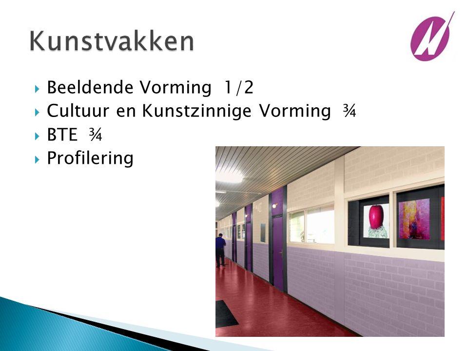  Beeldende Vorming 1/2  Cultuur en Kunstzinnige Vorming ¾  BTE ¾  Profilering