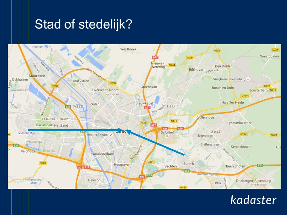 Stad of stedelijk?