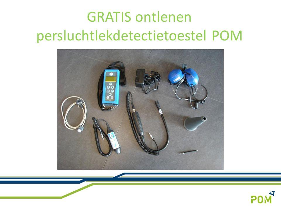 GRATIS ontlenen persluchtlekdetectietoestel POM