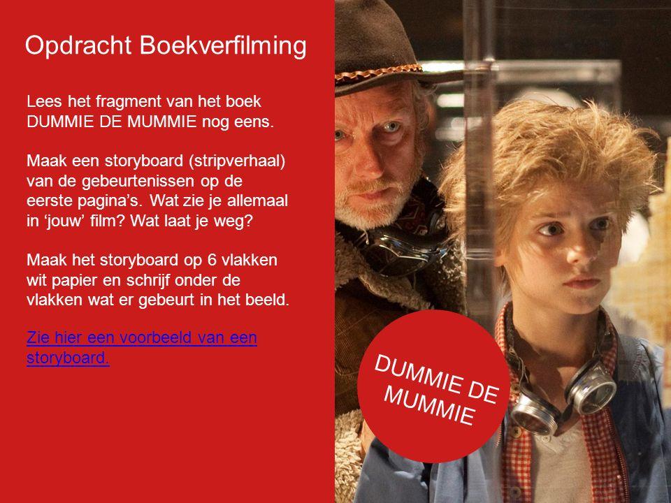 Filmp oster Lees het fragment van het boek DUMMIE DE MUMMIE nog eens.