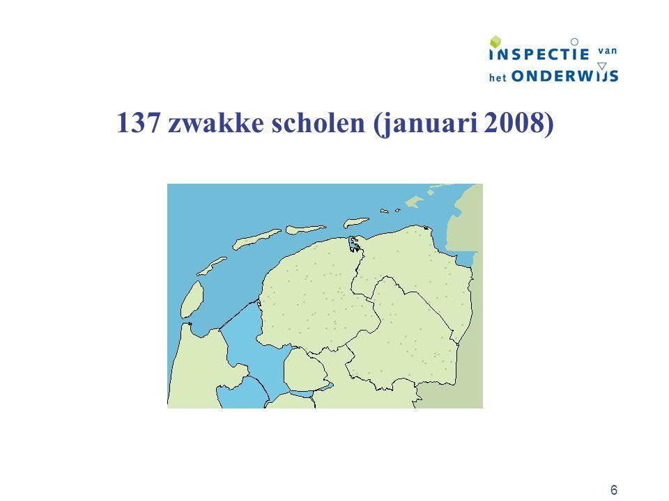 6 137 zwakke scholen (januari 2008)
