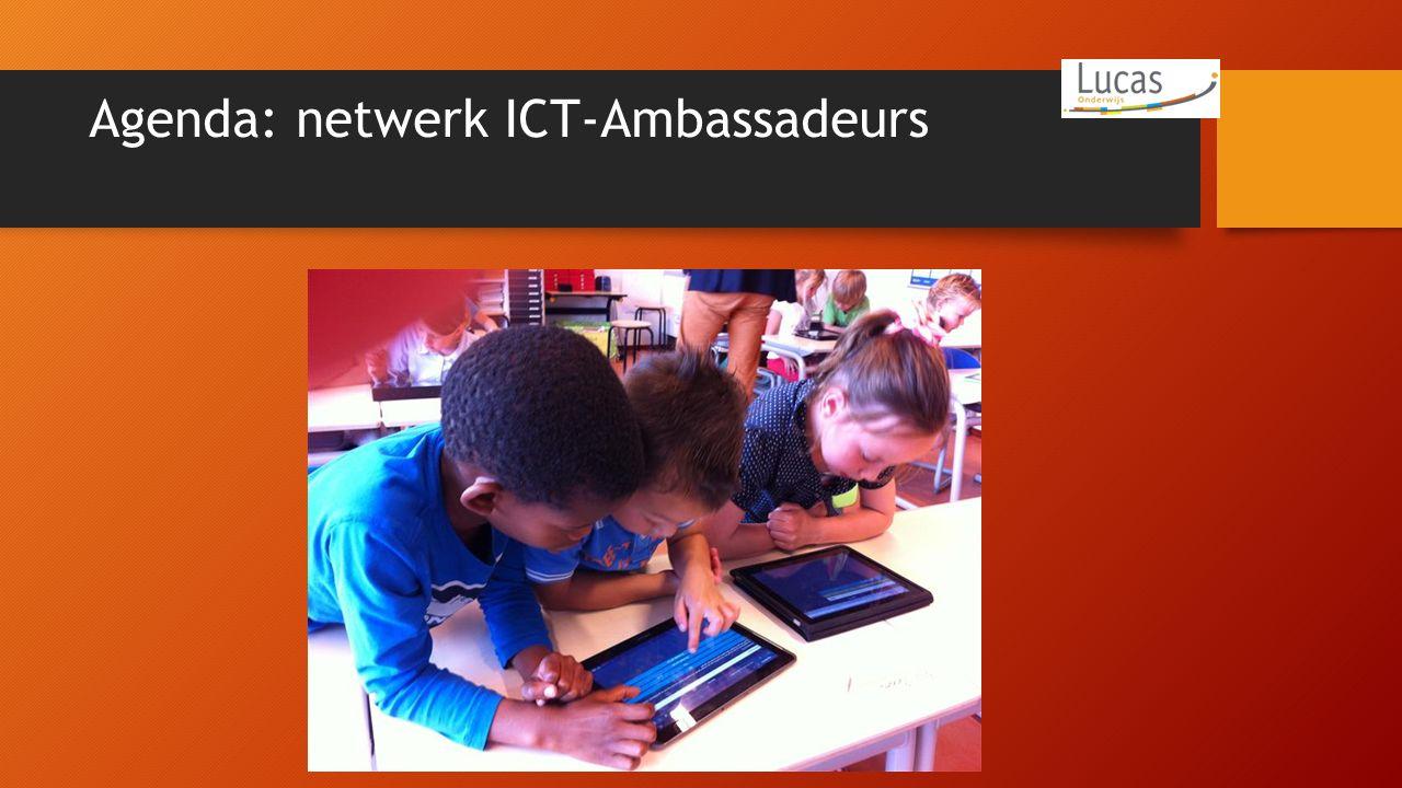 Agenda: netwerk ICT-Ambassadeurs
