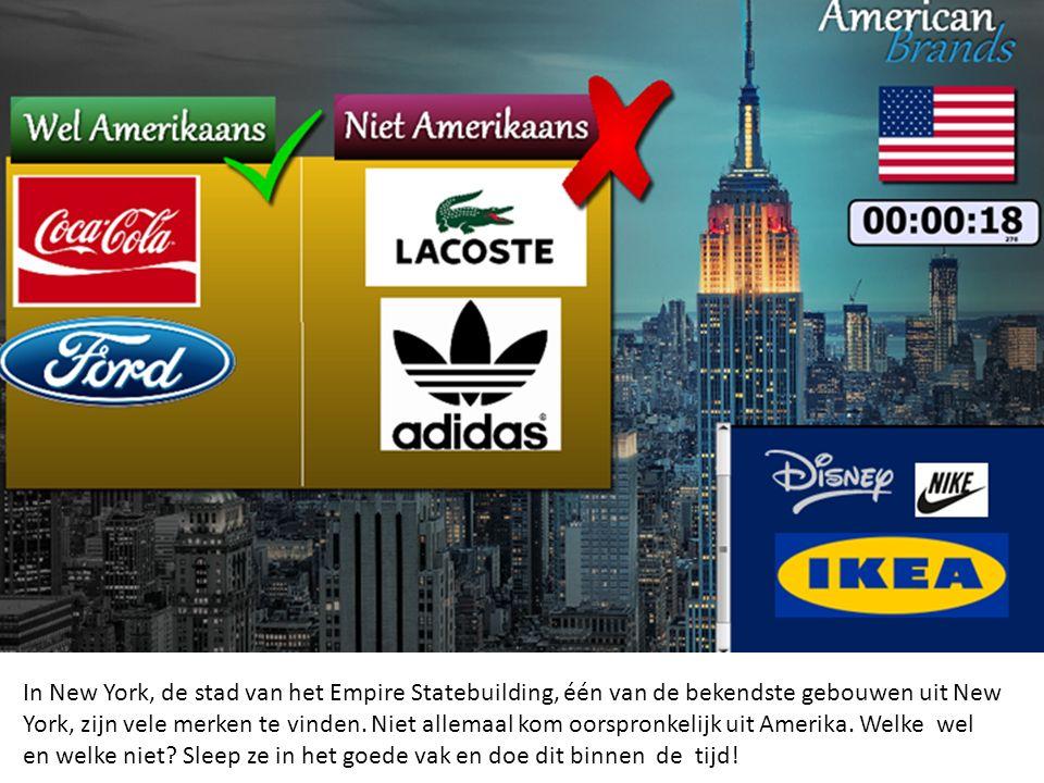 In New York, de stad van het Empire Statebuilding, één van de bekendste gebouwen uit New York, zijn vele merken te vinden.
