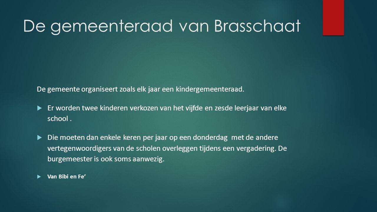 De gemeenteraad van Brasschaat De gemeente organiseert zoals elk jaar een kindergemeenteraad.