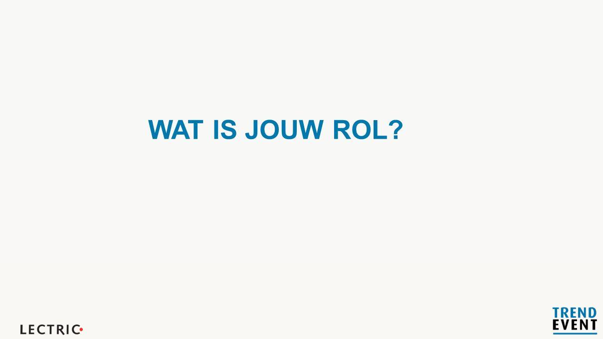 WAT IS JOUW ROL?