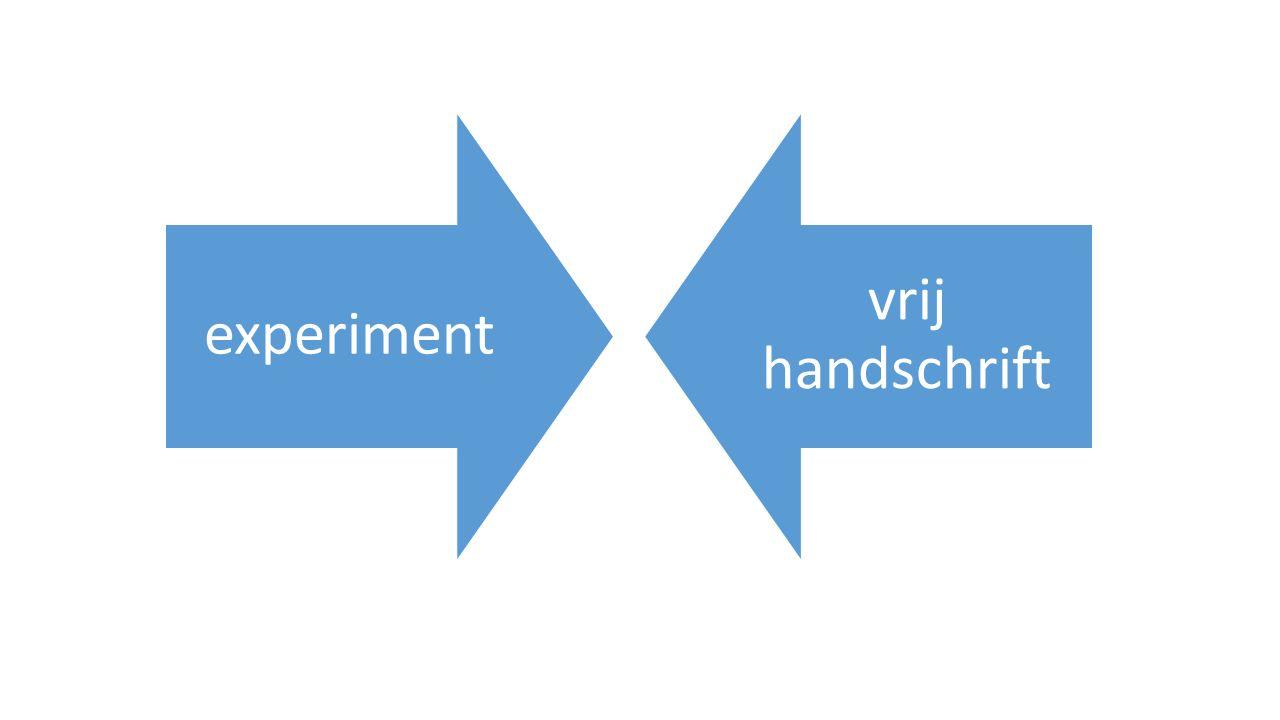 experiment vrij handschrift