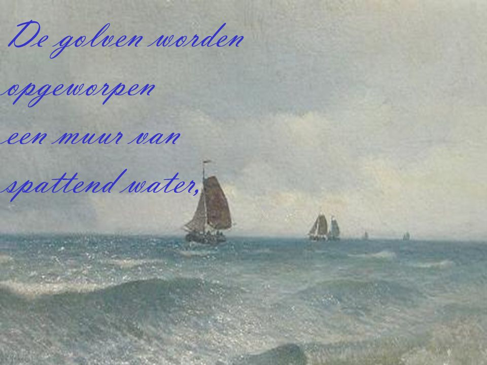 Een lied weerklinkt door de nacht als schuimkoppen op de golven staan, het bruisend lied van de zee zal menigeen stil doen staan.