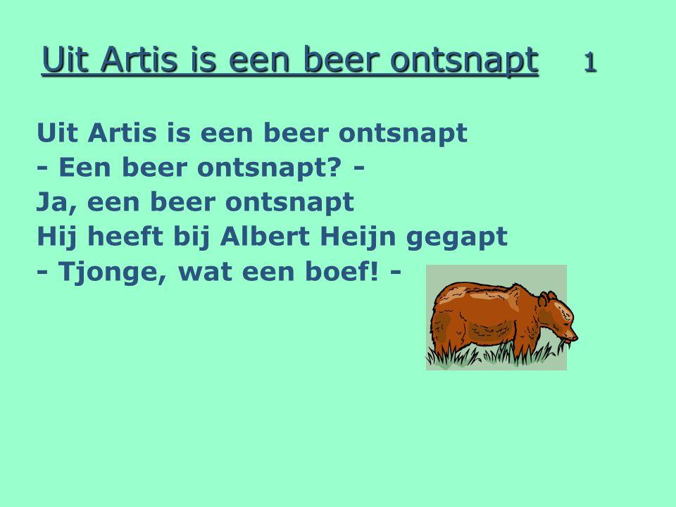 Uit Artis is een beer ontsnapt 1 Uit Artis is een beer ontsnapt - Een beer ontsnapt.