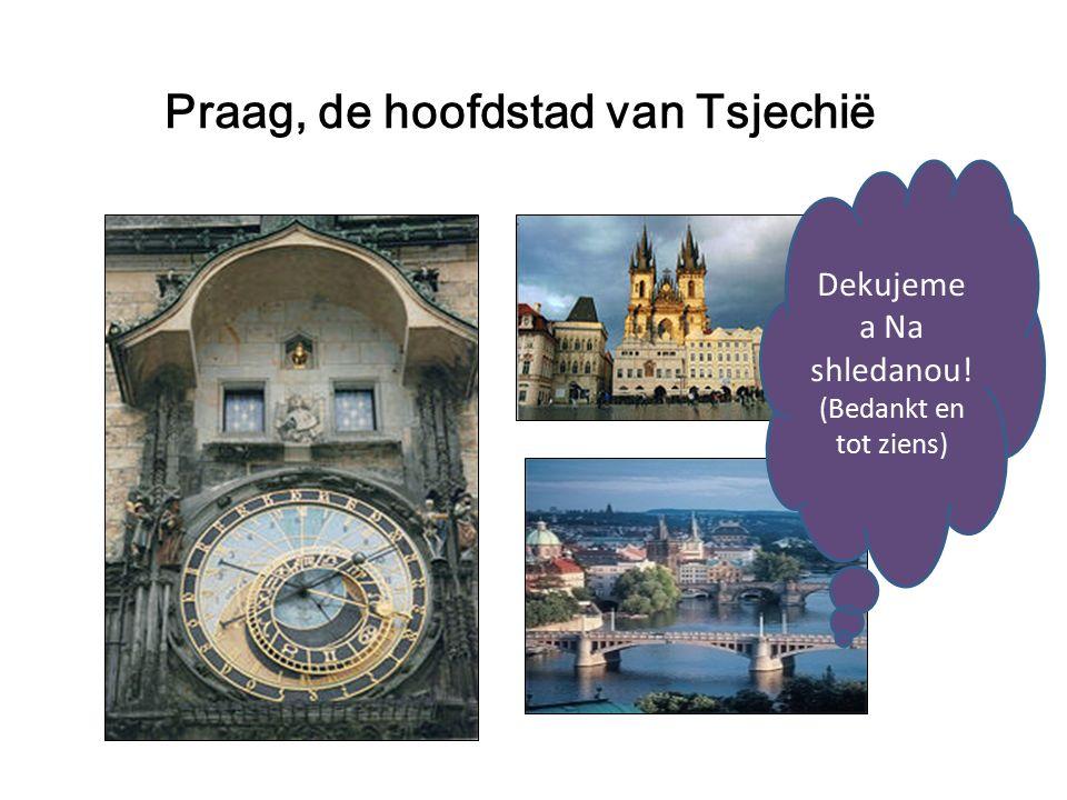 Praag, de hoofdstad van Tsjechië Dekujeme a Na shledanou! (Bedankt en tot ziens)