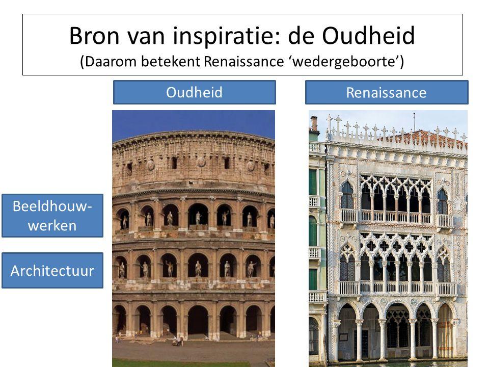 Bron van inspiratie: de Oudheid (Daarom betekent Renaissance 'wedergeboorte') Oudheid Renaissance Beeldhouw- werken Architectuur