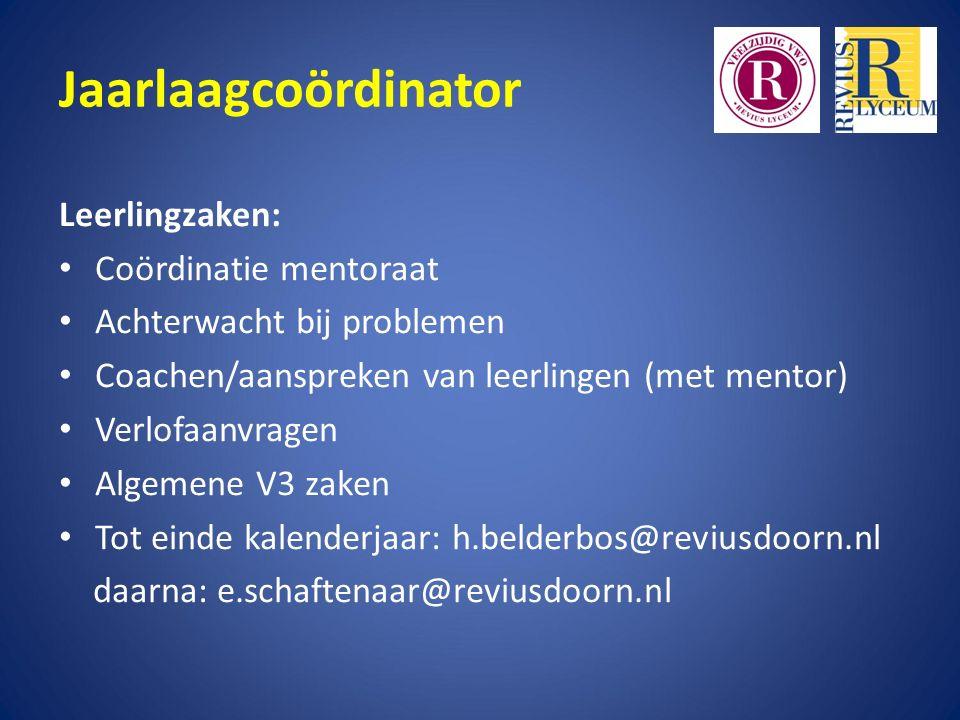 Wie zijn wij Jaarlaagcoördinator Hans Belderbos / Else Marlies Schaftenaar Decaan Ina Verbeek Conrector Eppo Groenewold
