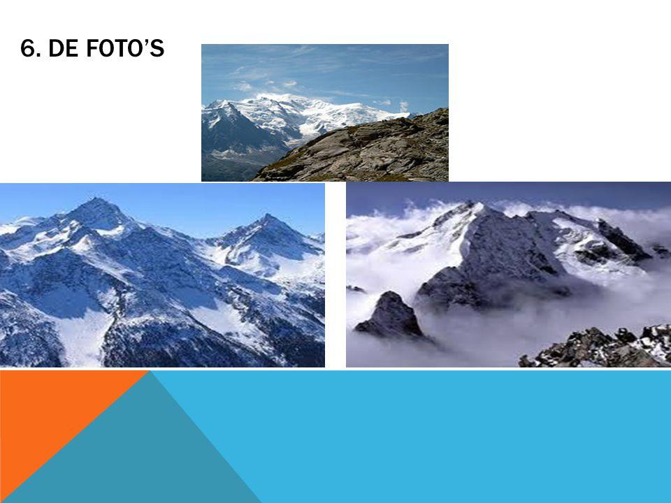 7.VRAAGEN Hoe hoog is de Mont Blanc. Hoe veel skiegebieden zijn in de alpen.