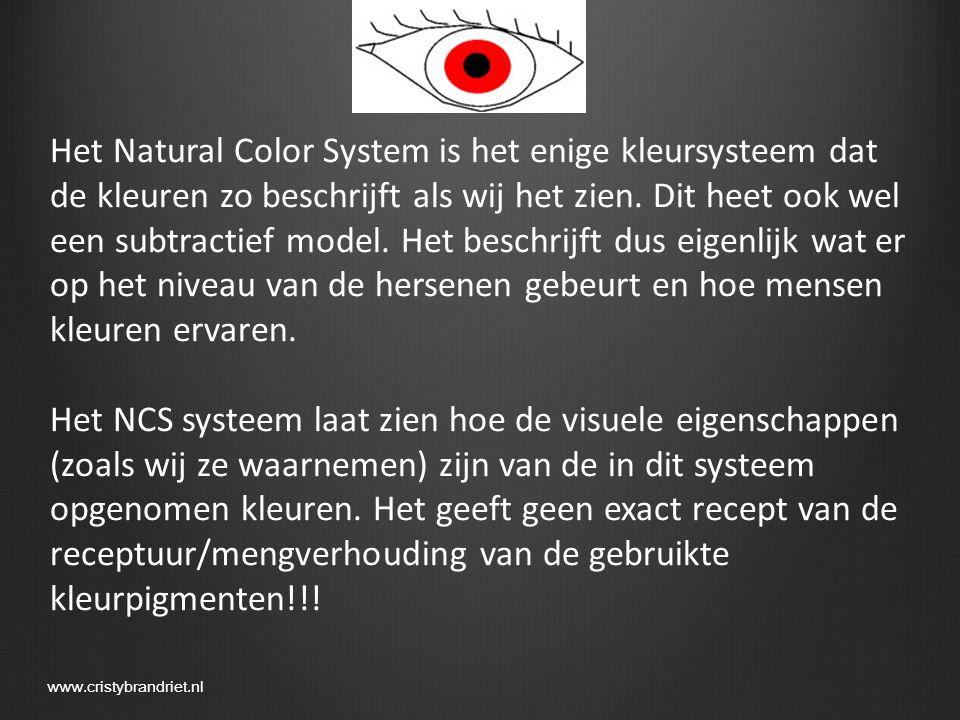 Het NCS gaat uit van 6 elementaire mengkleuren, omdat deze door mensen als ZUIVER worden waargenomen.