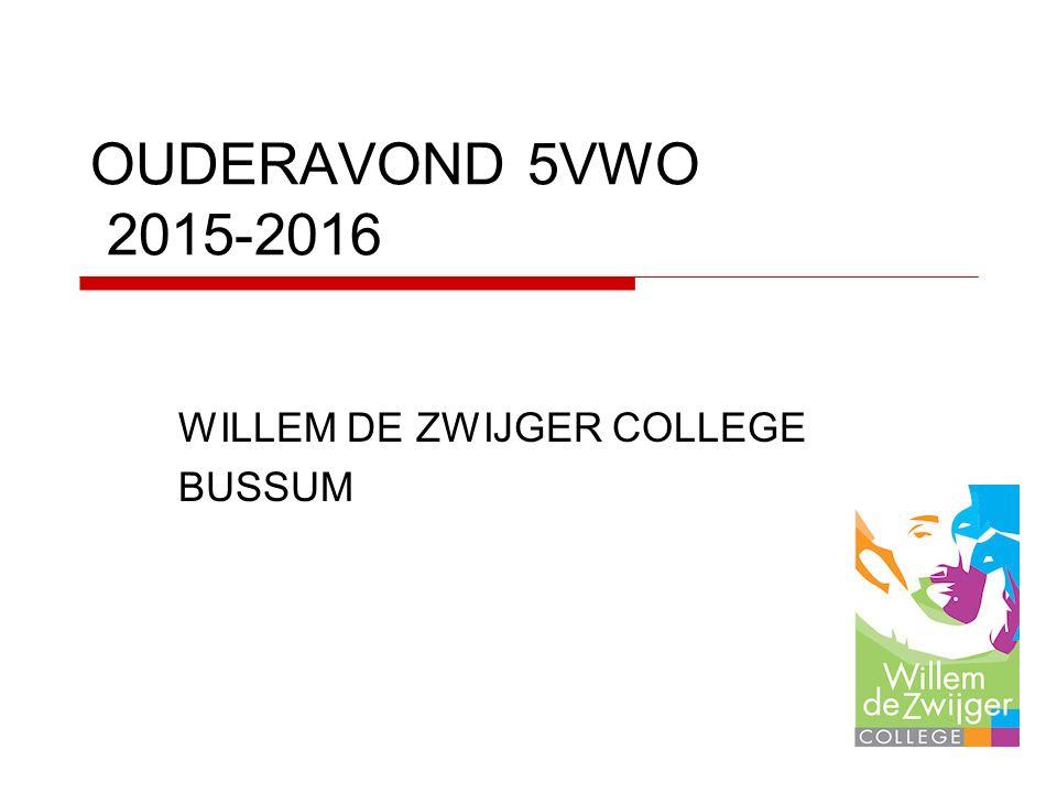 OUDERAVOND 5VWO 2015-2016 WILLEM DE ZWIJGER COLLEGE BUSSUM
