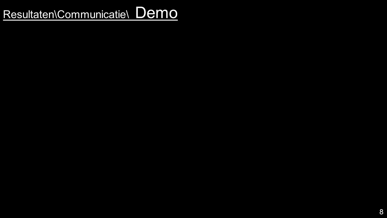 Resultaten\ Coördinatie toevoeging aan centrale hub: gebundelde notificaties werkend prototype, SUS = 85.4 > 68*  enkel notificaties van Facebook waardevol volgens 6/6 testers* 9 * p<0.01 met t-toets, voor SUS uitschieter weggelaten