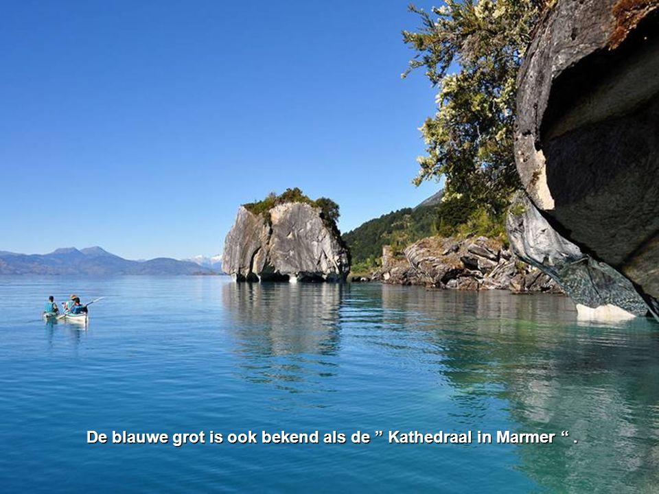 De blauwe grot is ook bekend als de Kathedraal in Marmer .