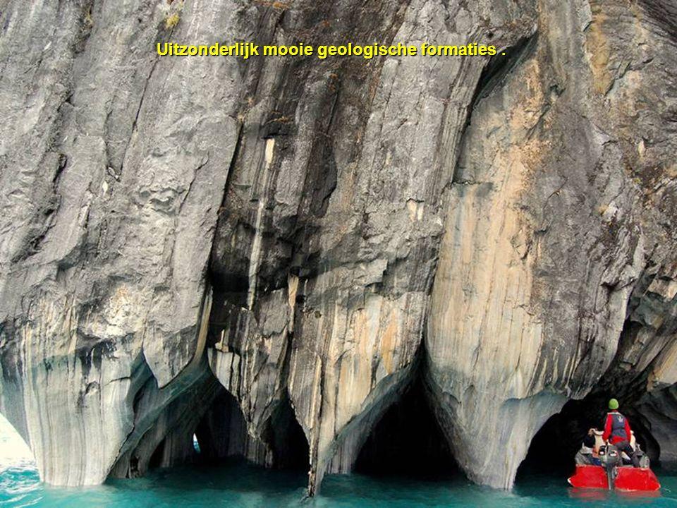 Uitzonderlijk mooie geologische formaties.