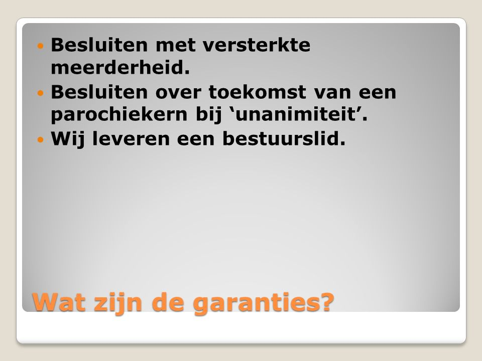 Beleid JdD 2011-2020 Aanbod aan activiteiten meer en beter afstemmen op behoeften van gemeenschap.