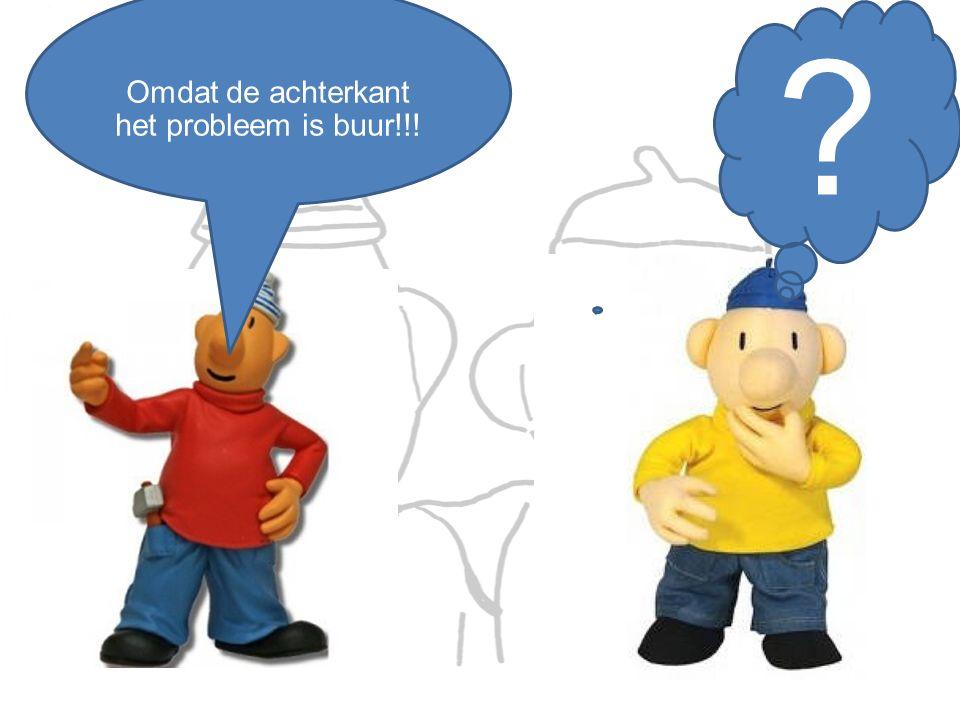 Omdat de achterkant het probleem is buur!!! ?
