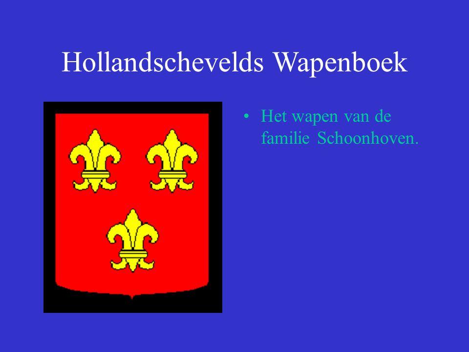 Hollandschevelds Wapenboek Het wapen van de familie Schoonhoven.
