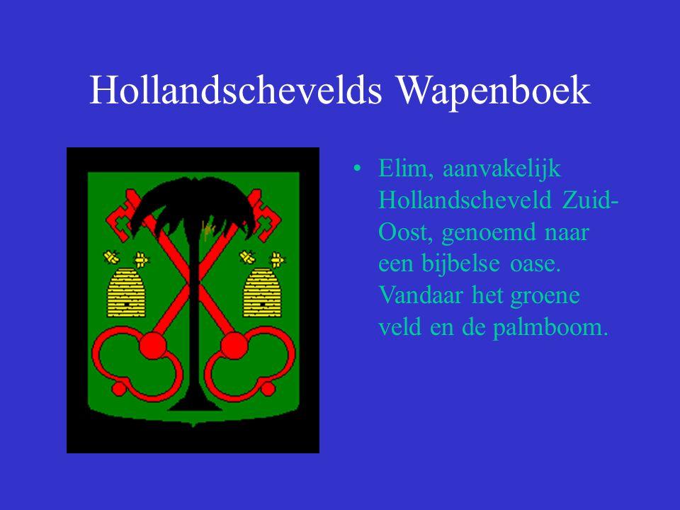 Hollandschevelds Wapenboek Elim, aanvakelijk Hollandscheveld Zuid- Oost, genoemd naar een bijbelse oase.