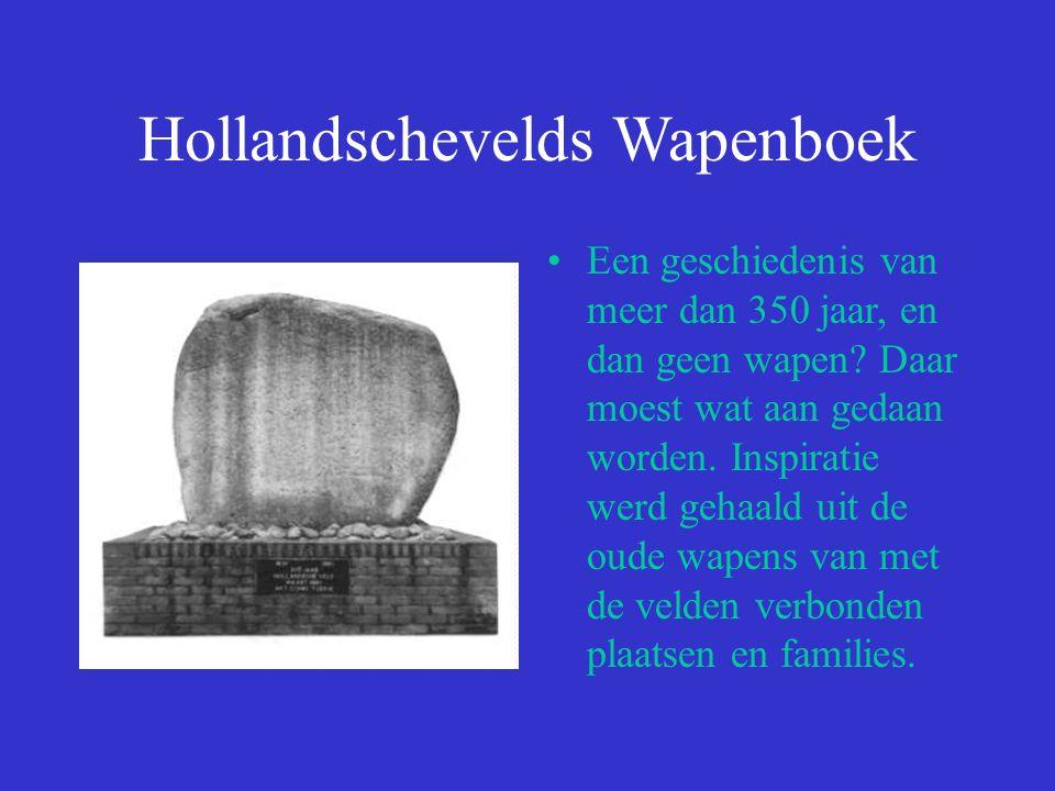 Hollandschevelds Wapenboek Het wapen van Hoogeveen bestaat uit een hoop turf, twee bijenkorven en 14 bijen, op een ondergrond van zilver.