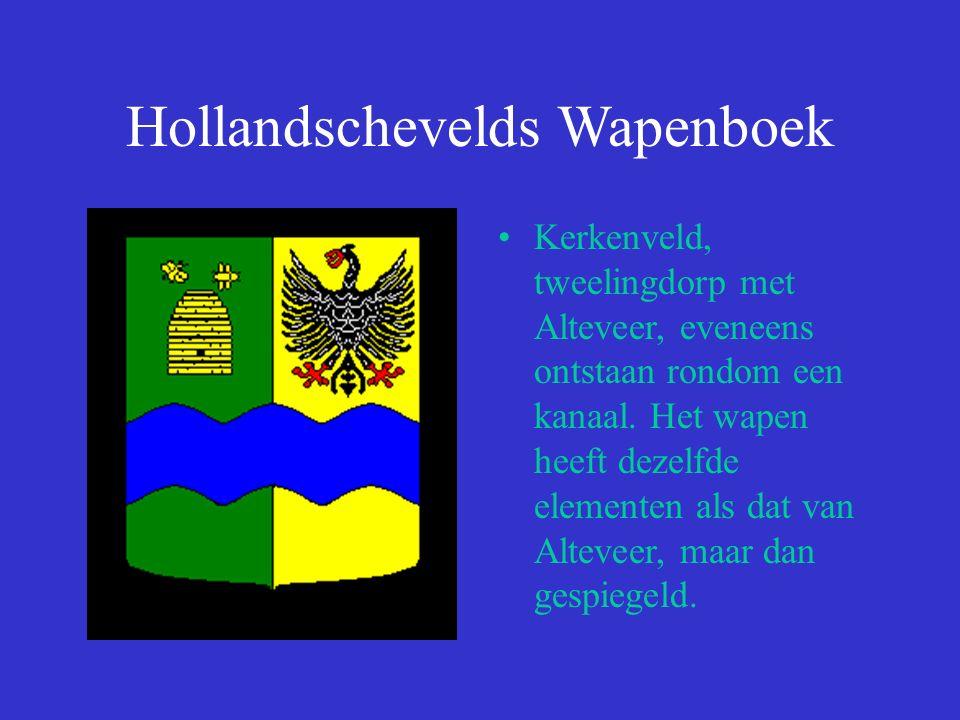 Hollandschevelds Wapenboek Kerkenveld, tweelingdorp met Alteveer, eveneens ontstaan rondom een kanaal.