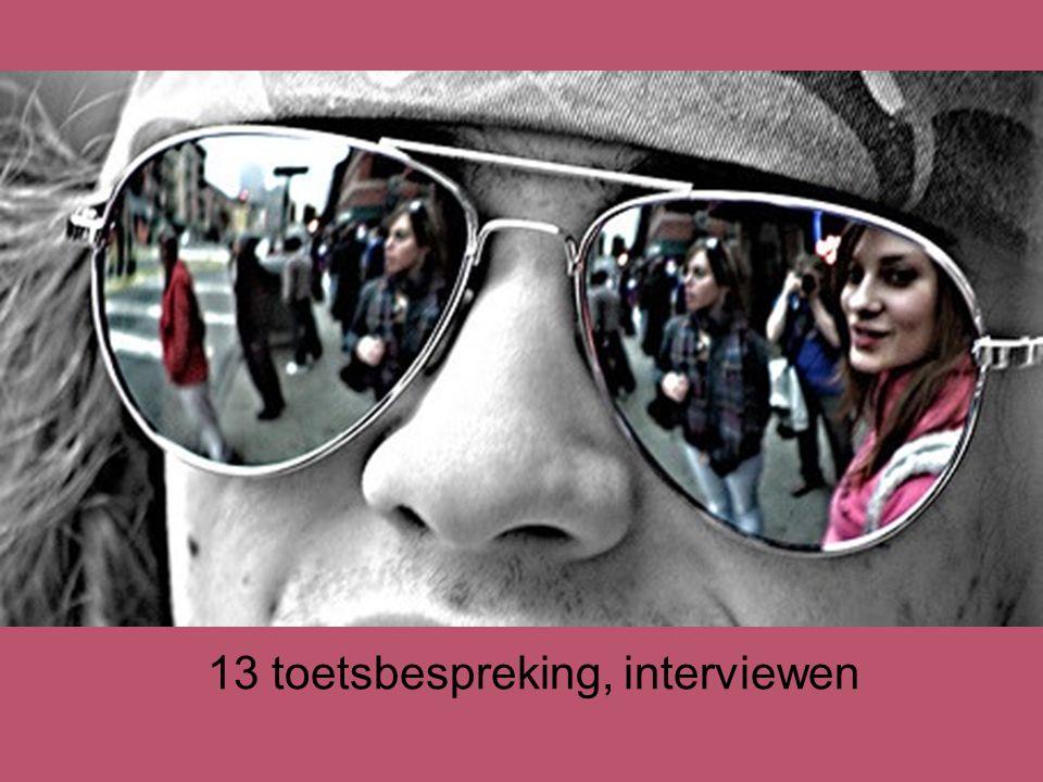 13 toetsbespreking, interviewen