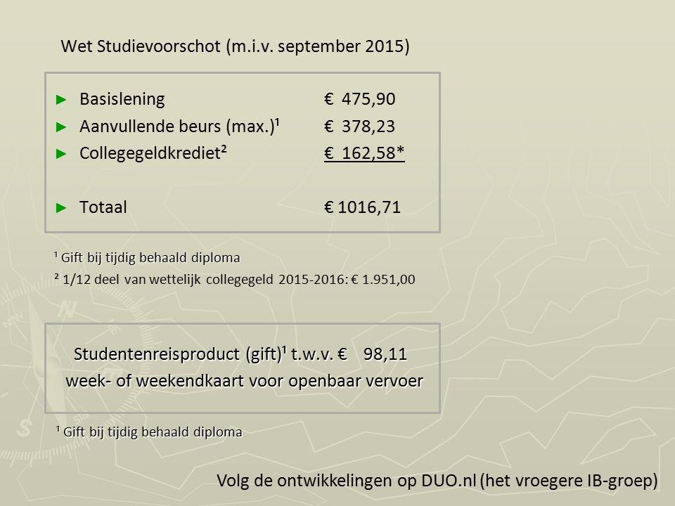 Studentenreisproduct (gift)¹ t.w.v. € 98,11 Studentenreisproduct (gift)¹ t.w.v. € 98,11 week- of weekendkaart voor openbaar vervoer week- of weekendka