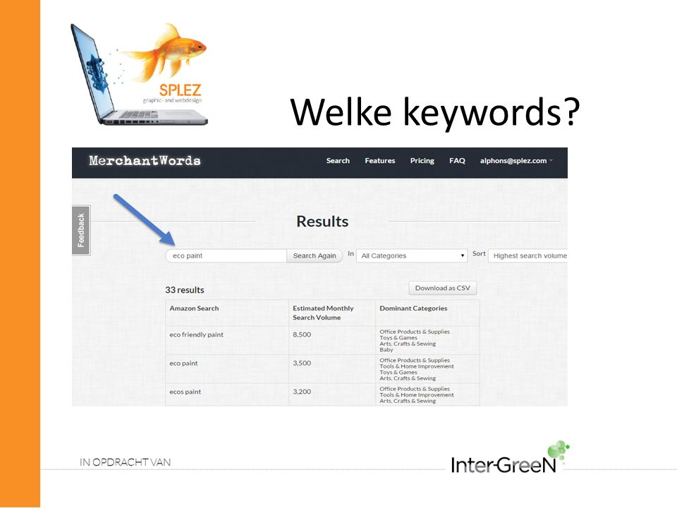 Welke keywords?