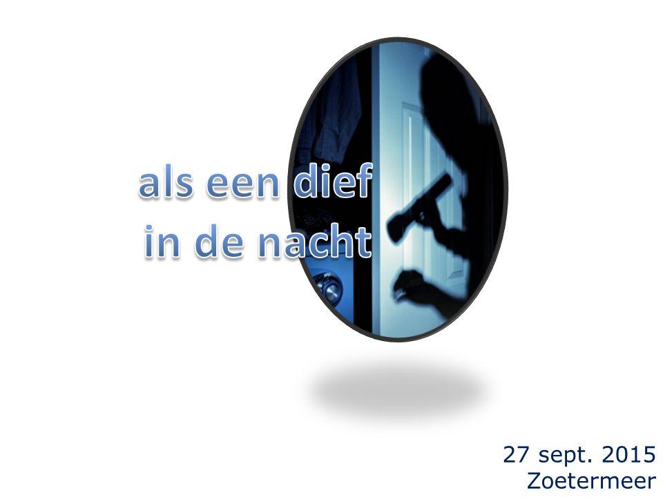 27 sept. 2015 Zoetermeer