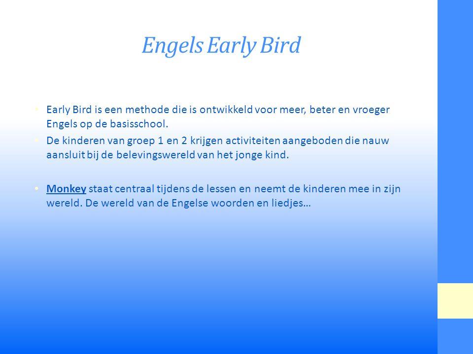 Engels Early Bird Early Bird is een methode die is ontwikkeld voor meer, beter en vroeger Engels op de basisschool.
