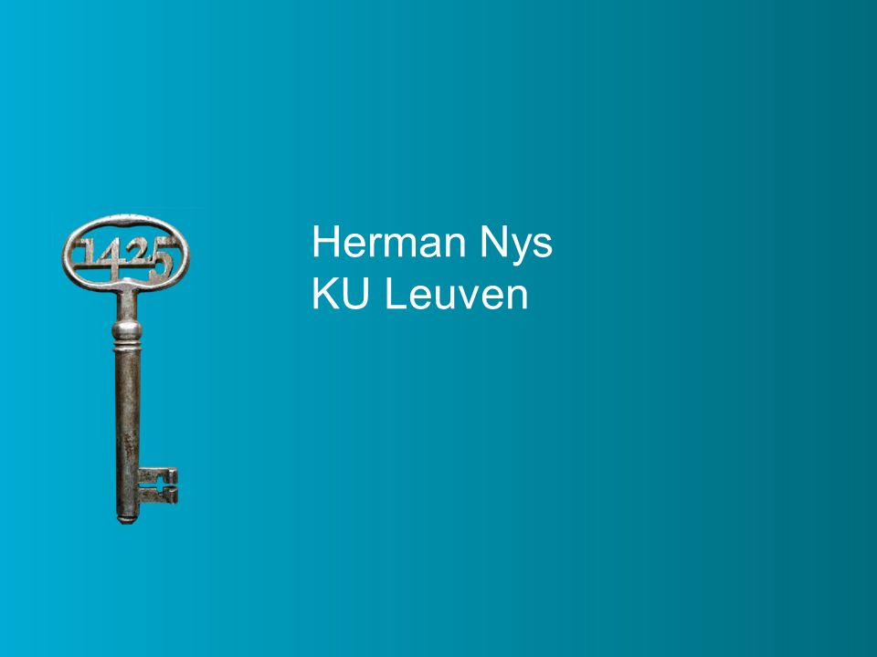 Herman Nys KU Leuven