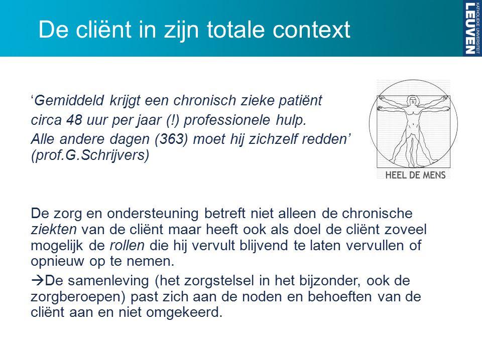 'Gemiddeld krijgt een chronisch zieke patiënt circa 48 uur per jaar (!) professionele hulp.