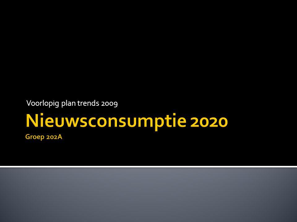 Voorlopig plan trends 2009