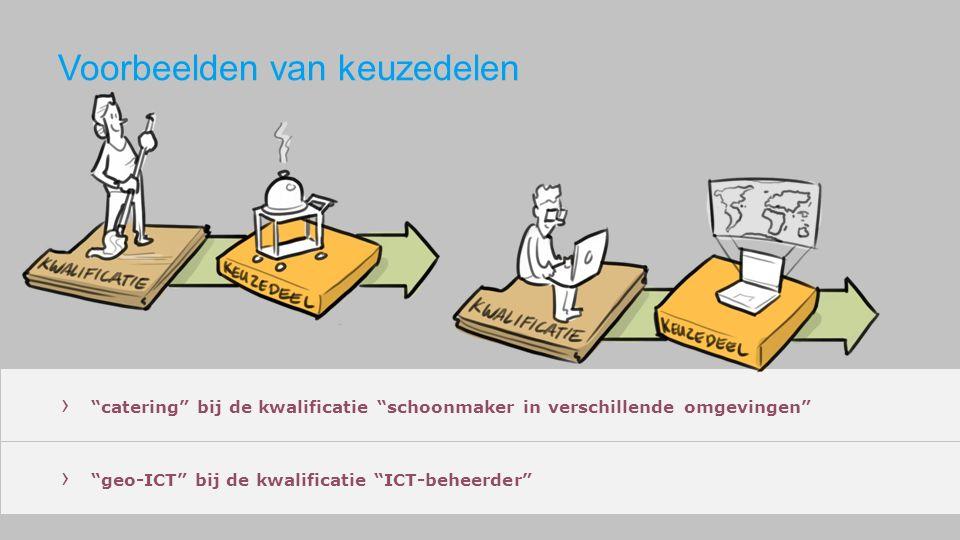 """› """"catering"""" bij de kwalificatie """"schoonmaker in verschillende omgevingen"""" › """"geo-ICT"""" bij de kwalificatie """"ICT-beheerder"""""""