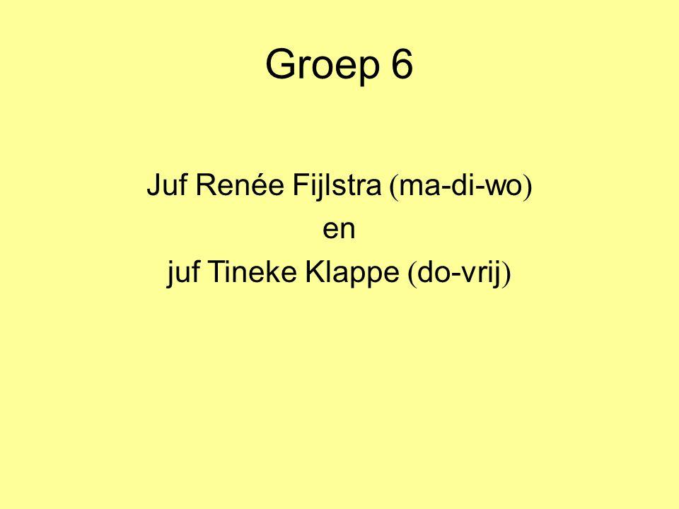 Groep 6 Juf Renée Fijlstra ( ma-di-wo ) en juf Tineke Klappe ( do-vrij )