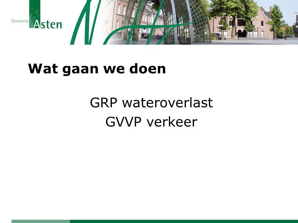 GRP wateroverlast GVVP verkeer