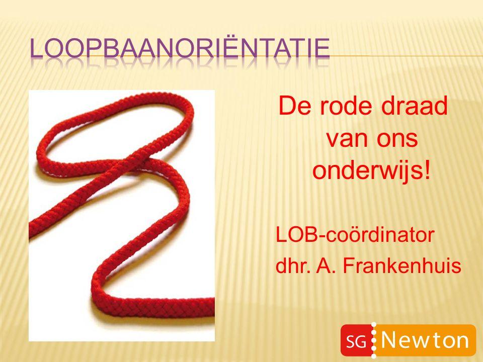 De rode draad van ons onderwijs! LOB-coördinator dhr. A. Frankenhuis
