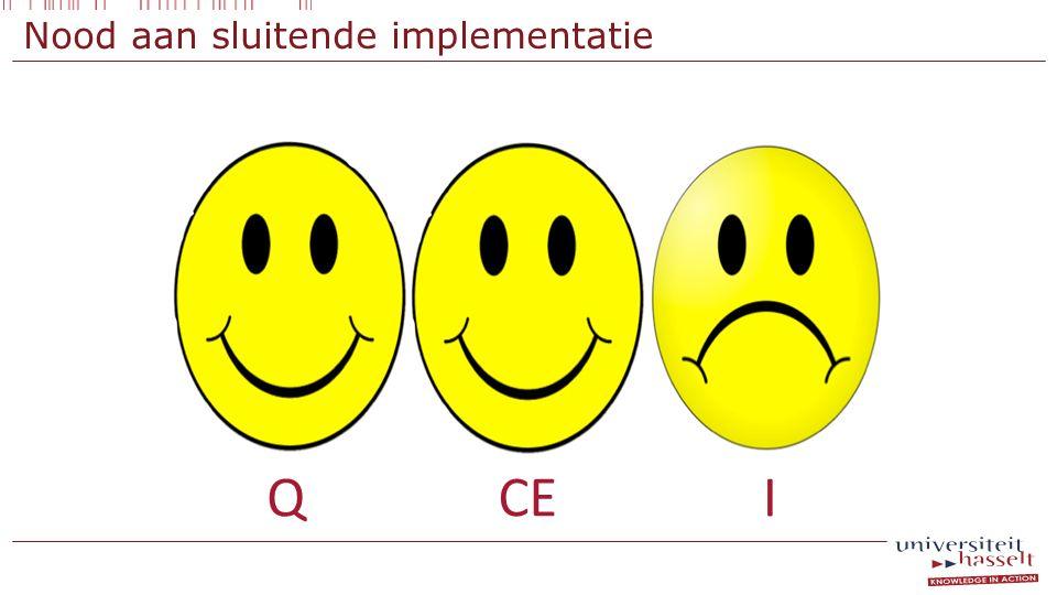 Nood aan sluitende implementatie CEQI