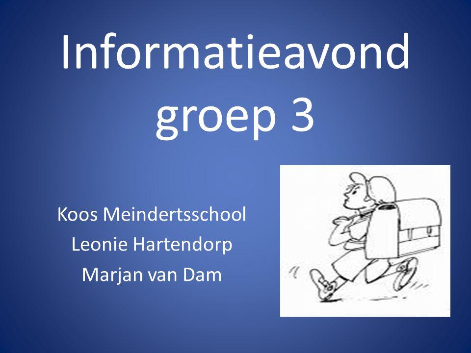 Informatieavond groep 3 Koos Meindertsschool Leonie Hartendorp Marjan van Dam
