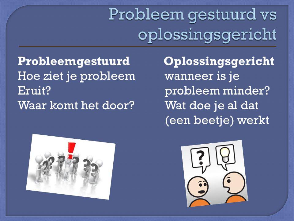 Probleemgestuurd Oplossingsgericht Hoe ziet je probleem wanneer is je Eruit?probleem minder.
