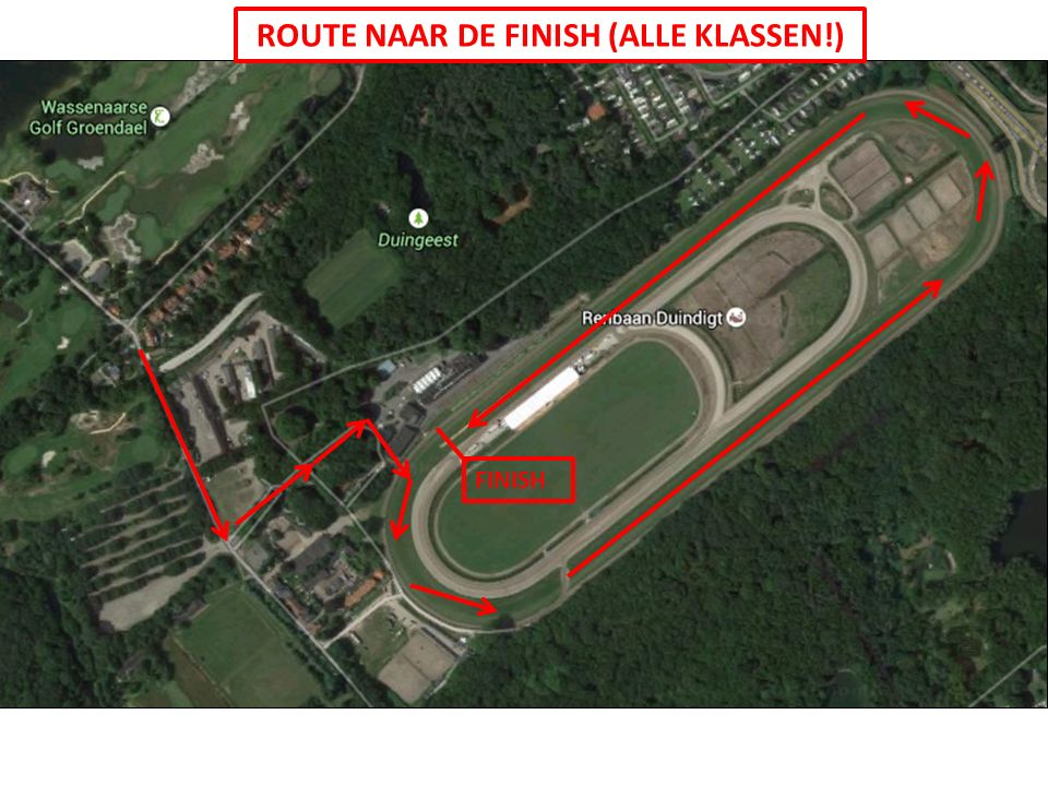 ROUTE NAAR DE FINISH (ALLE KLASSEN!) FINISH