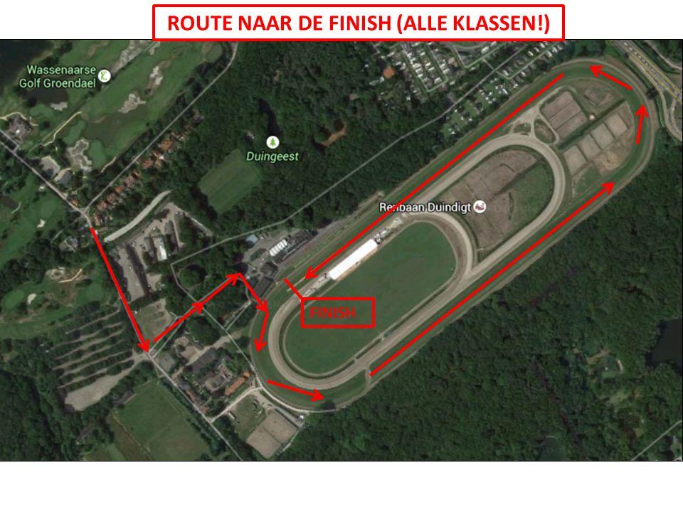 ROUTE NAAR DE FINISH (ALLE KLASSEN!) FINISH