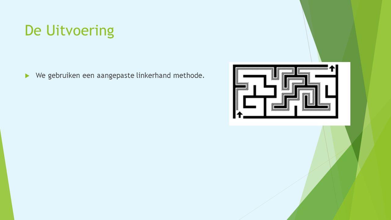 De Uitvoering  We gebruiken een aangepaste linkerhand methode.