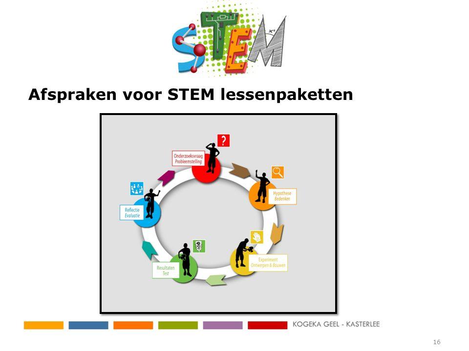 Afspraken voor STEM lessenpaketten 16