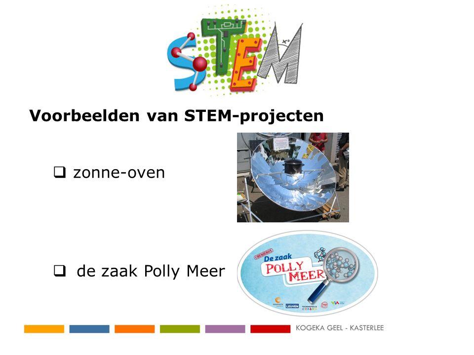 Voorbeelden van STEM-projecten  zonne-oven  de zaak Polly Meer
